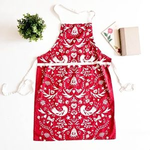 Red Vintage Printed Apron